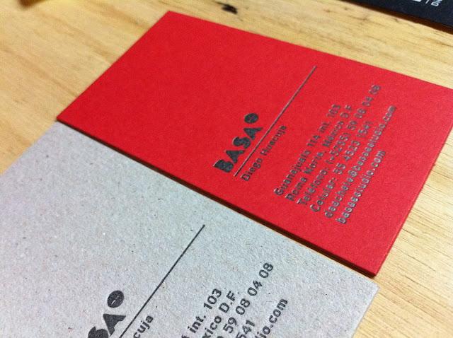 letterpress tarjetas basa 1
